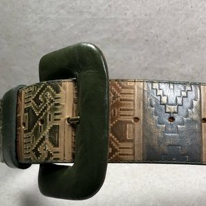Vintage Simon Chang Leather Belt